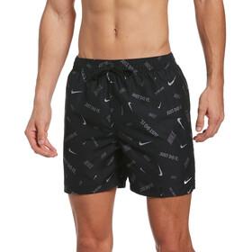 "Nike Swim Logofetti 5"" Volley Shorts Men, czarny/szary"